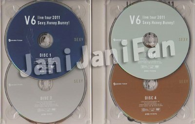 画像2: DVD (4枚組)★★ V6「V6 live tour 2011 Sexy.Honey.Bunny!」初回生産限定 (SEXY盤)